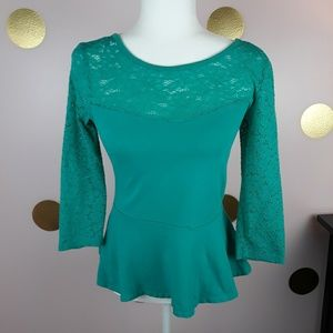Express Dressy Teal Top